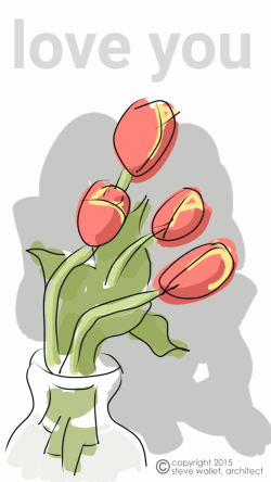 steve wallet architect mother's day tulips cartoon 2015-5-10