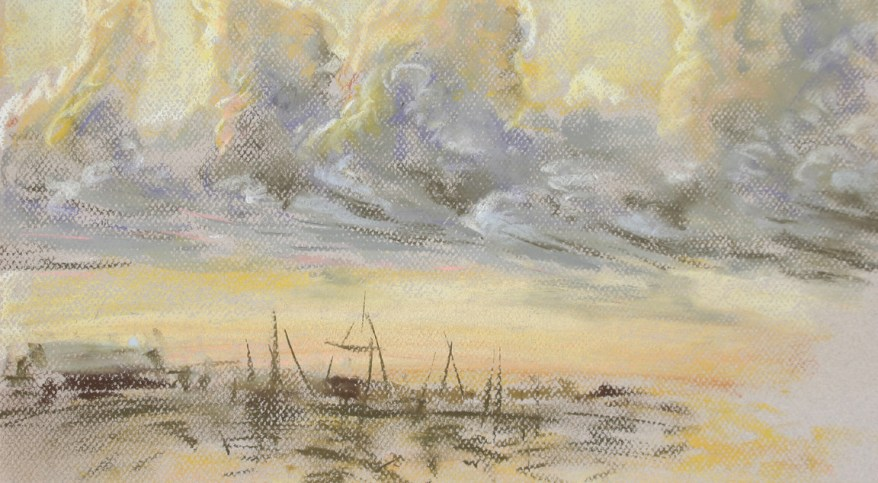 """Key West 24,"" pastel on paper, 18""X 24"" 2012"
