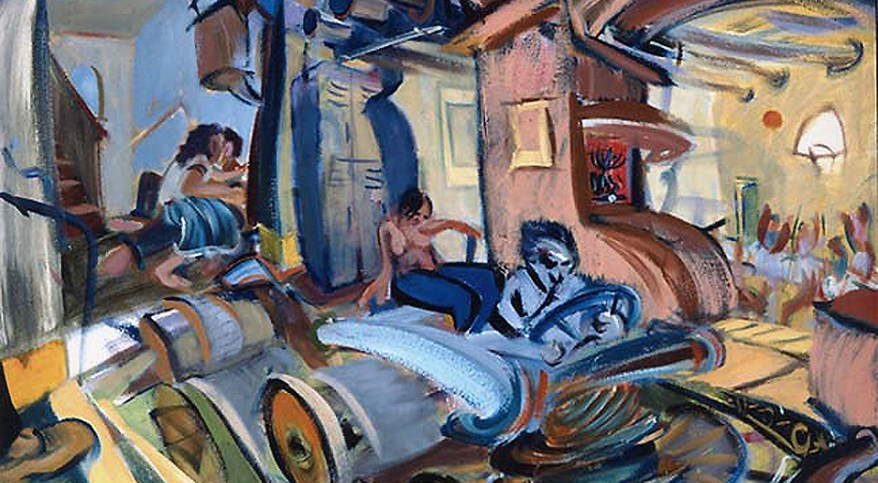 """Past Half-time,"" oil on canvas, 22""X 30"" 1998"