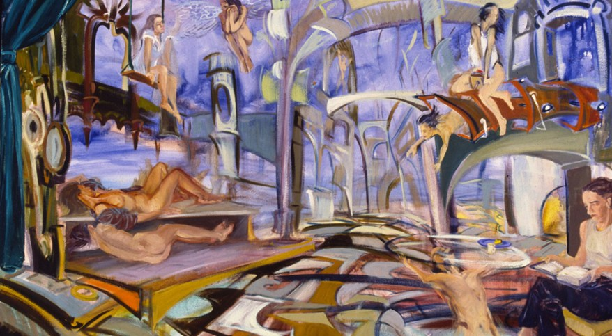 """Temple of You,"" oil on canvas, 33""X51""  2001"