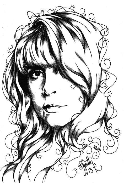 Stevie Nicks Inspired Art by Lynette Kirby