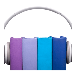 headphones over a stack of 4 books