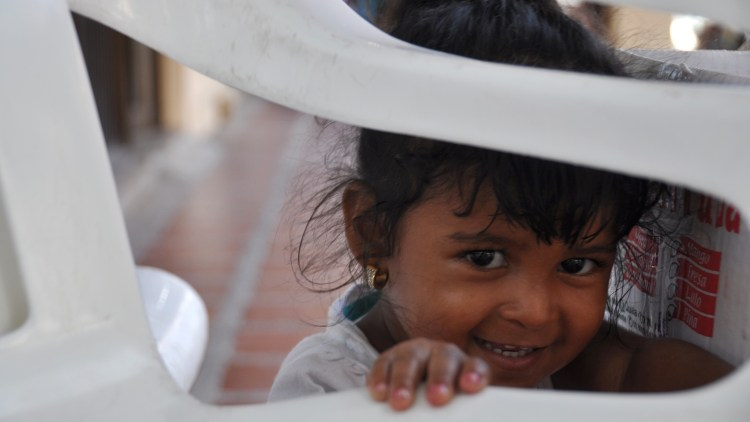 photo of a little colombian girl in Providencia