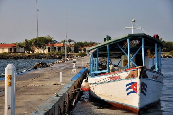 Photo of a Cuban fishing boat in Cabo San Antonio, cuba