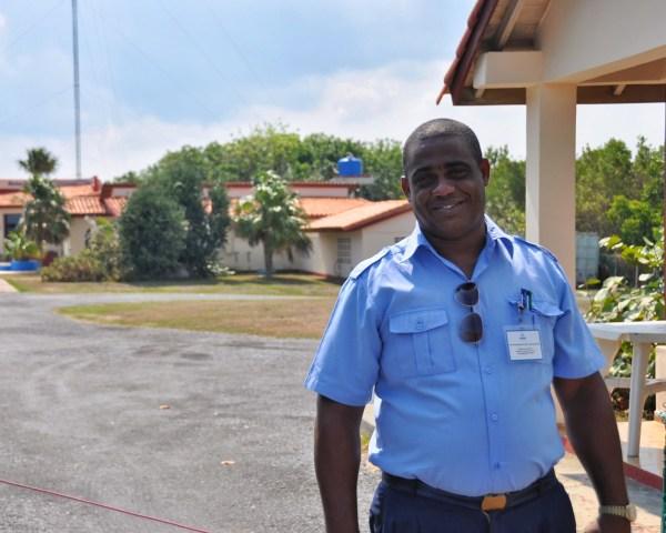 Photo of an official in Cabo San Antonio cuba
