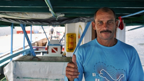 Photo of a fisherman in Cabo San Antonio, Cuba
