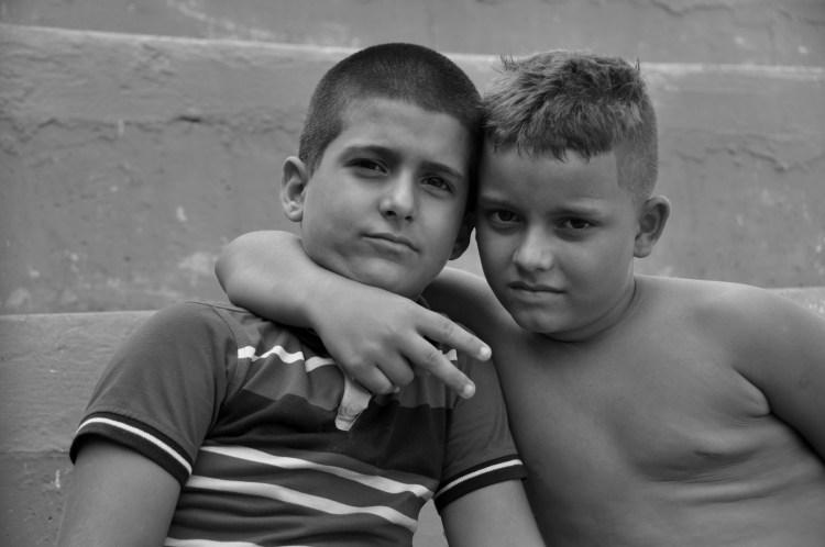 photo of some local cuban boys in Nueva Gerona, cuba by stevie vagabond