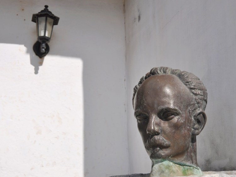 Photo of the head of Jose Marti at the Jose Marti House in Nueva Gerona, Cuba by Stevie Vagabond