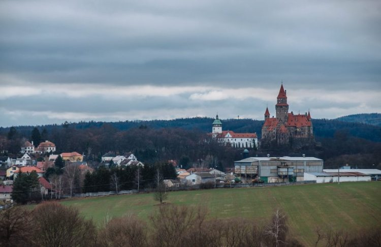view of bouzov castle in czech republic