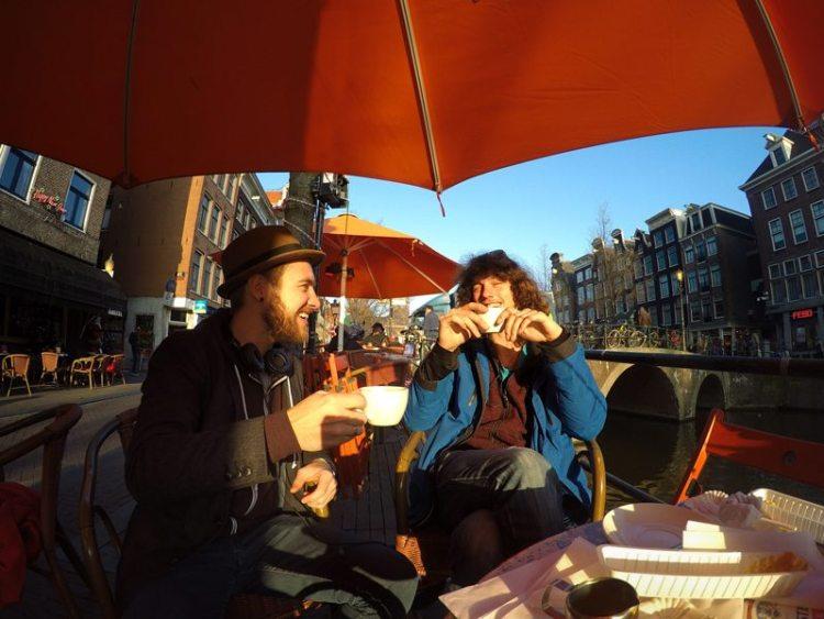 vagabonds in Amsterdam, Netherlands