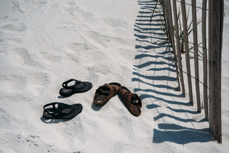 Sandals on Pensacola beach