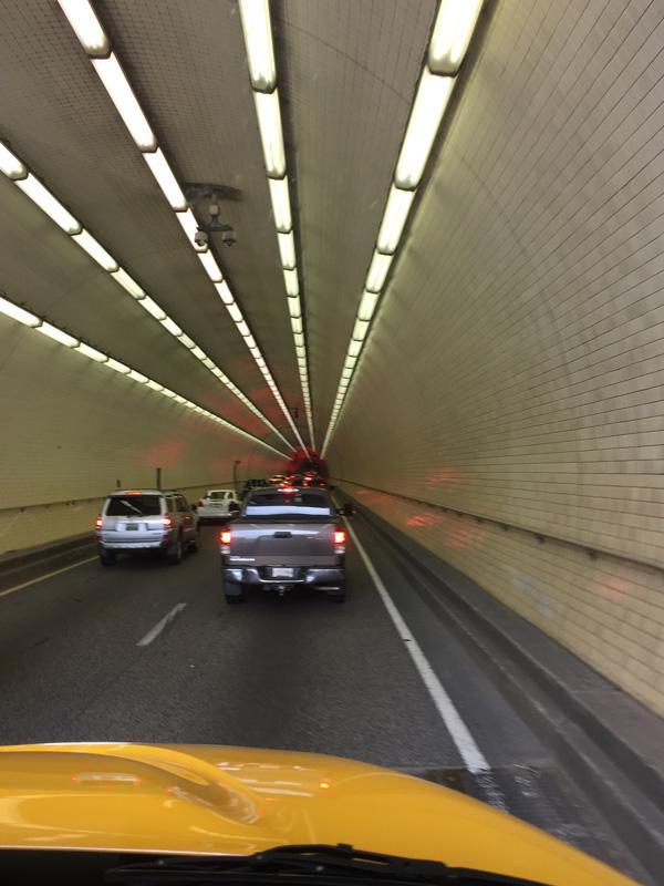Photo inside the Mobile, Alabama tunnel.