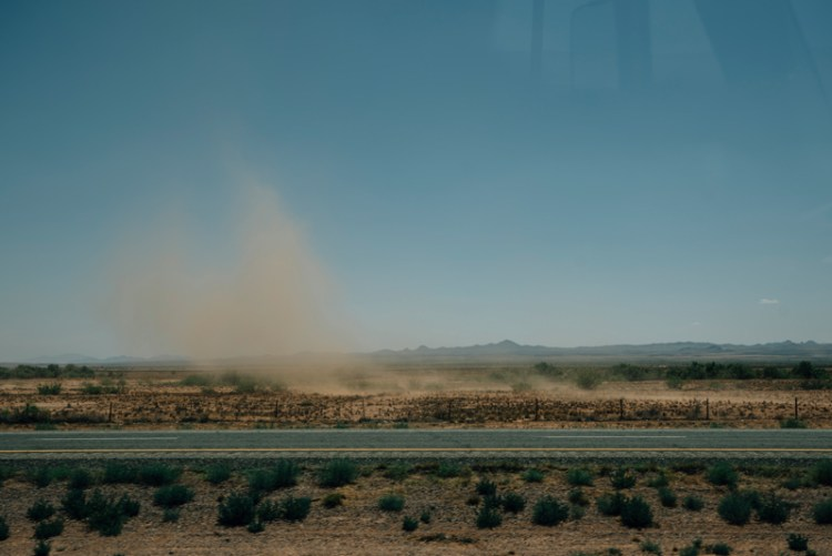 Photo of a dust cloud in Arizona.