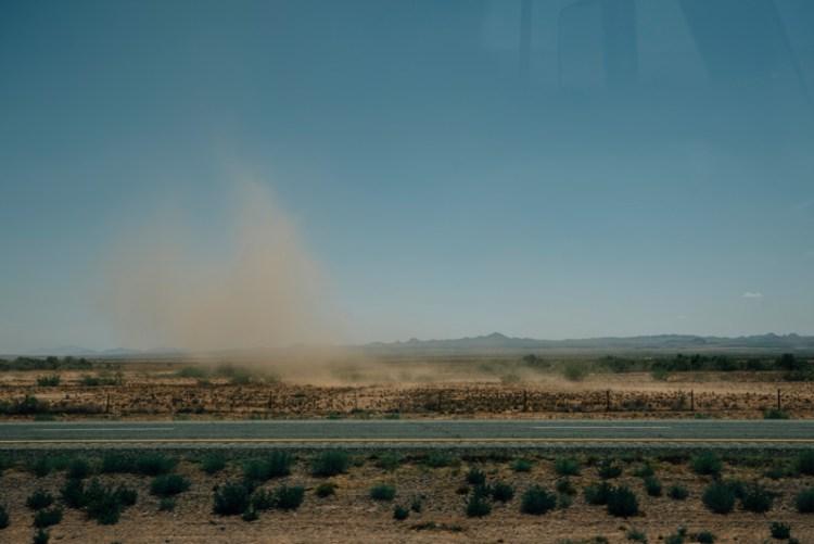 Photo of a dust cloud in Arizona.