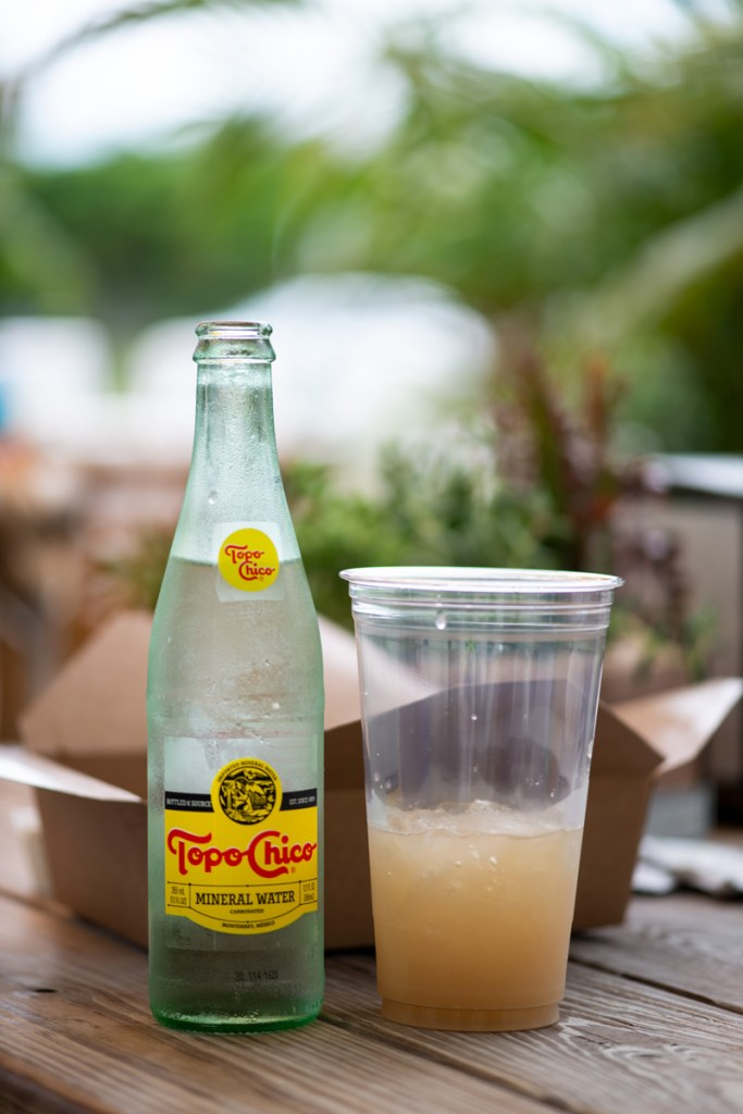 photo of Topo Chico water and ginger iced tea by One Love Key West