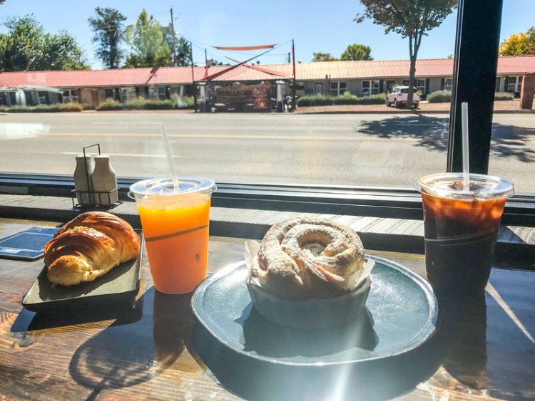 Breakfast at Kanab Bakery in Utah.