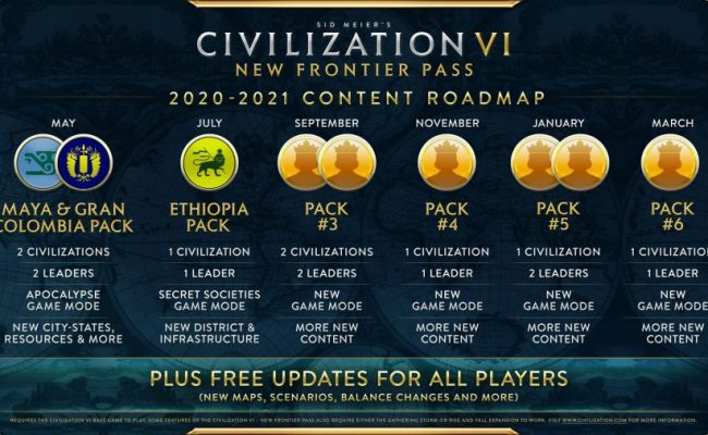Civ 6 Gets A Year Long Season Pass In New Frontier Stevivor