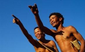 Photo: khomanisan. The San of the Kalahari