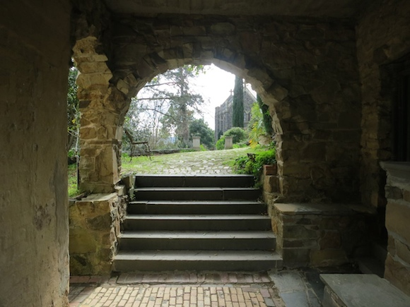 View through an archway