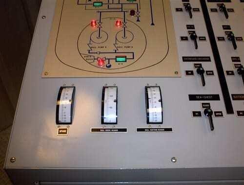 Mimic panel of Ballast Control Simulator