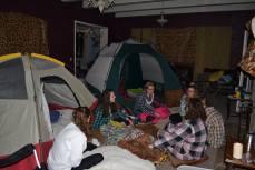 Internal event -- indoor camping
