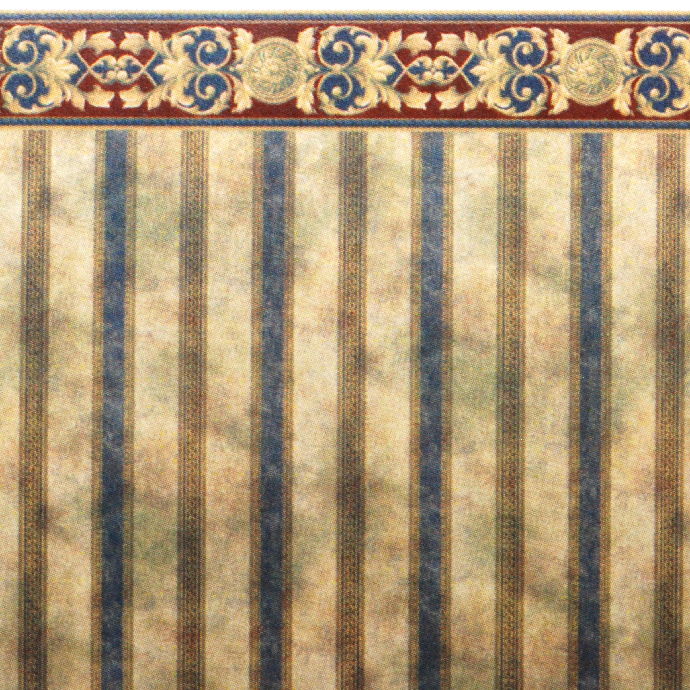 148 Wallpaper Faux Marble Stripe Stewart Dollhouse