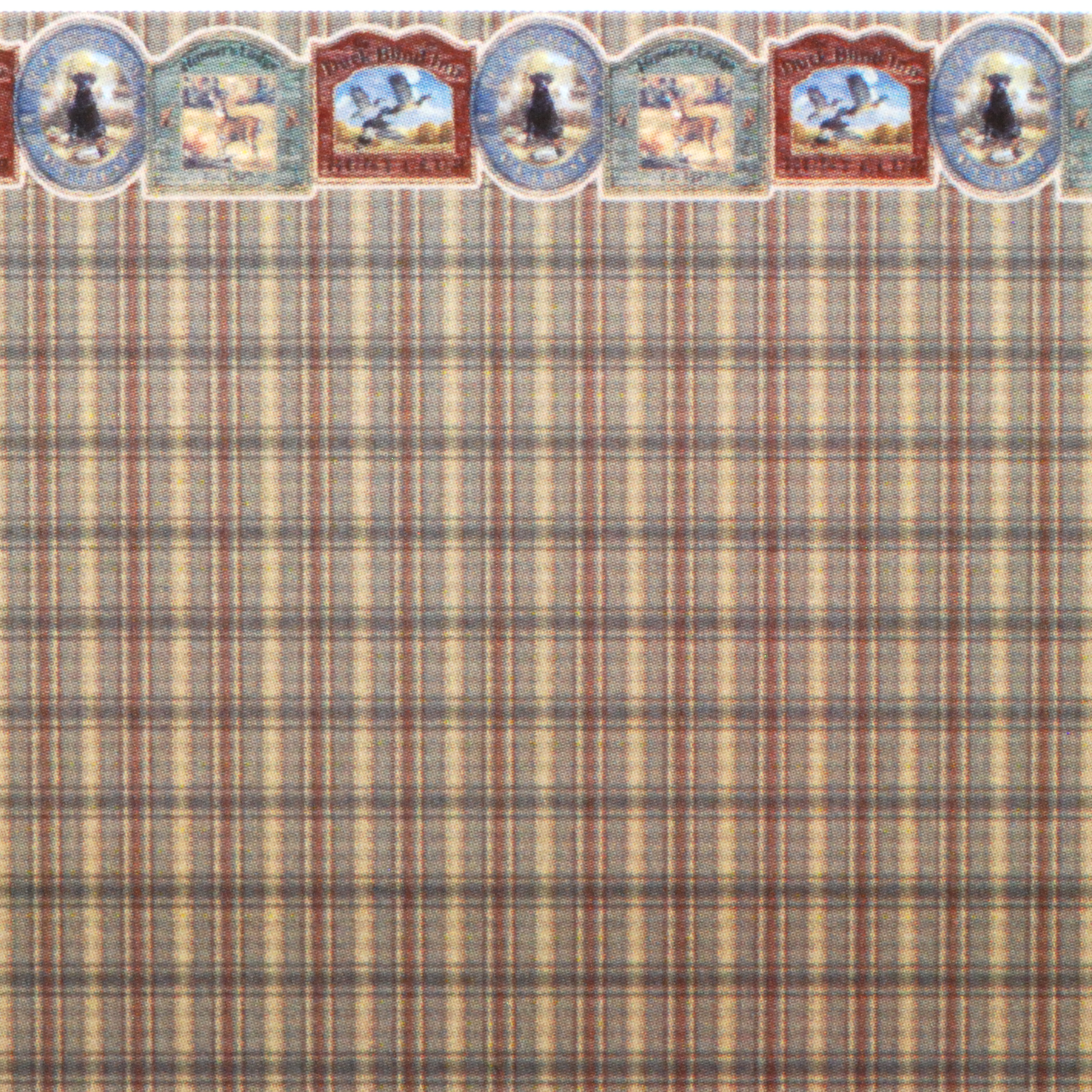 148 Wallpaper Puppies and Plaid  Stewart Dollhouse
