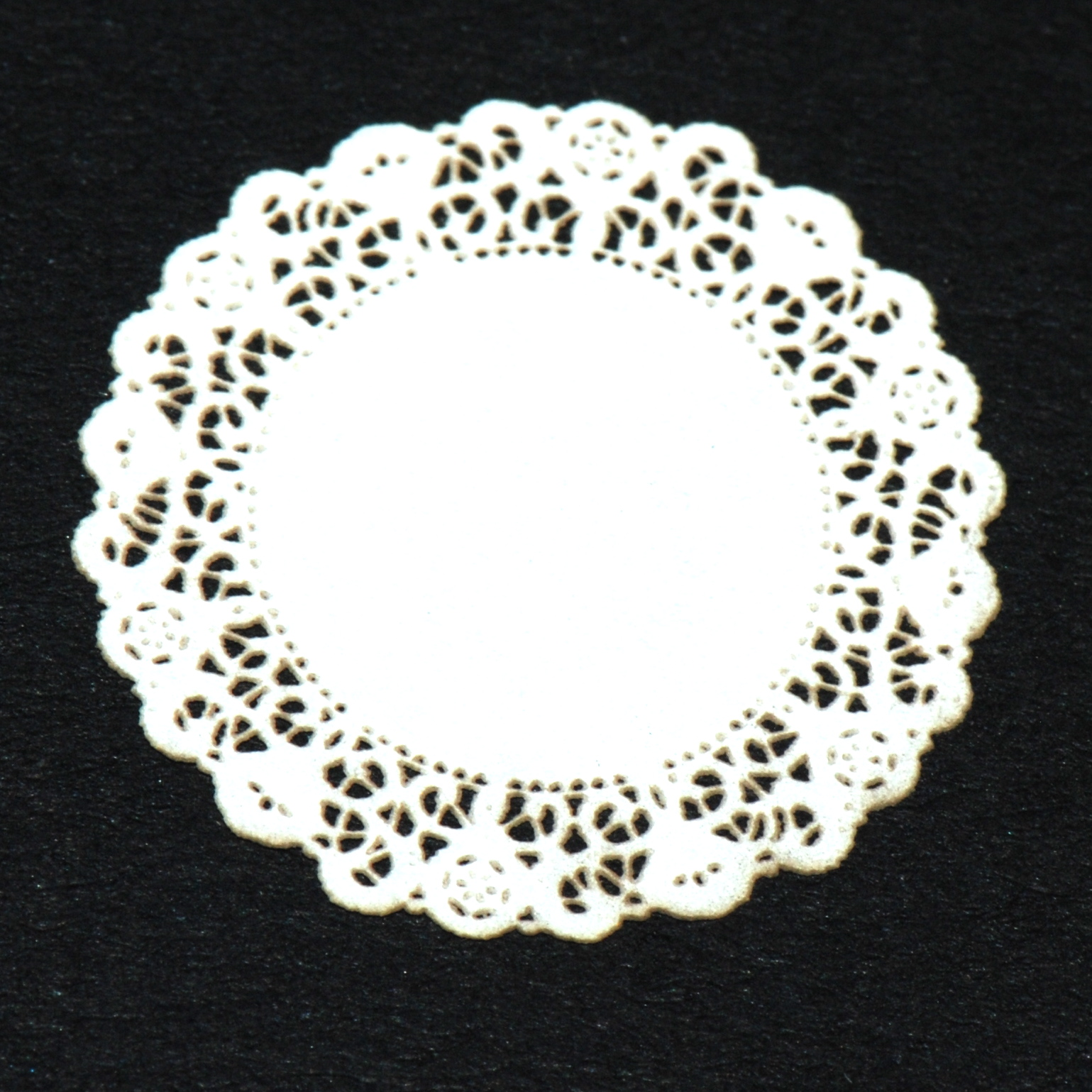 Small White Lace Doily 25 Stewart Dollhouse Creations