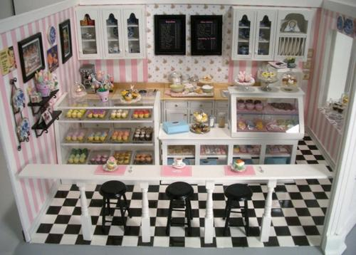 Ebay 3d Wallpaper Photo Cupcake Shop 7 Stewart Dollhouse Creations