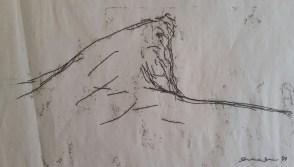 Skibbereen (Cork) Monoprint sketch, 1998, NFS