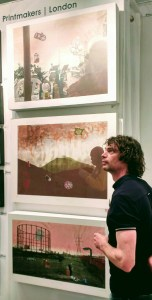 The Artist at the Affordable Art Fair , Hampstead
