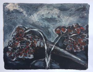 Old Flowers, Monoprint, 2019, £50
