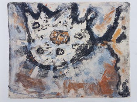 Mutation, sketchbook monoprint, 24cm x 32cm, £20
