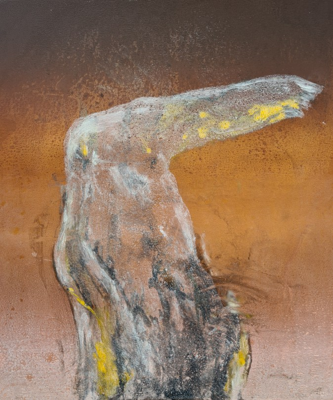 Stump #183 (Ghost), Monoprint, 36cm x 30cm