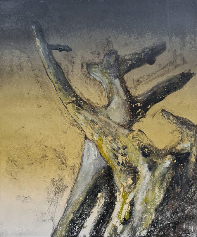 Stump #190, Monoprint, 36cm x 30cm