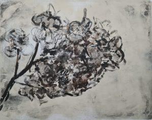 Dead Flowers, Monoprint, 32cm x 24cm, £20