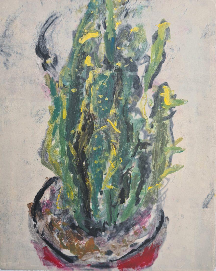 Cactus, Monoprint, 20cm x 25cm, £30