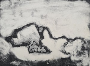 Untitled (Still Life), Monoprint, 44cm x 27cm,1991, not for sale
