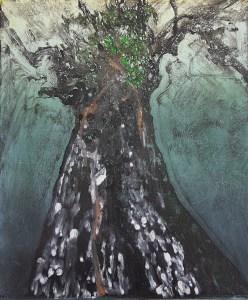 Stump #211, Monoprint, 36cm x 30cm