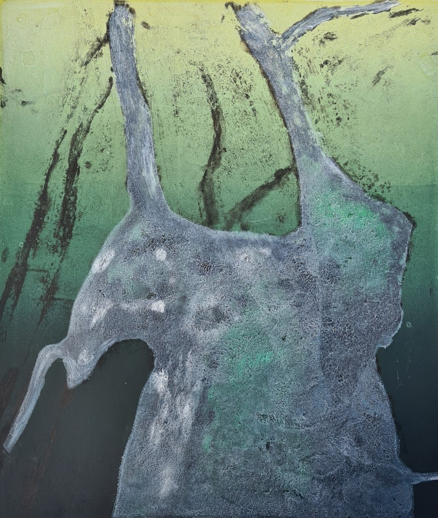 Stump #205 (Ghost), Monoprint, 36cm x 30cm