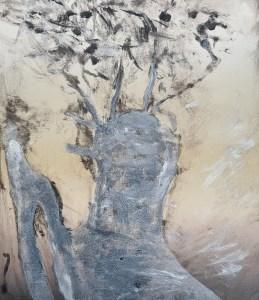 Ojai #2 (Ghost), Monoprint, 36cm x 30cm