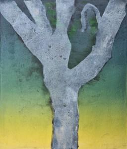 Stump #220 (Ghost), Monoprint, 35cm x 30cm