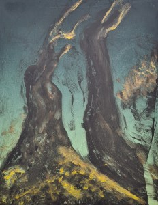 Stump #224, Monoprint, 25cm x 20cm