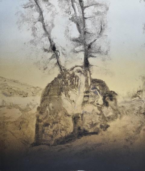 Ojai #21, Monoprint, 30cm x 35cm