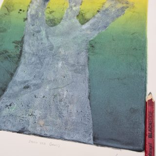 Stump #222 (Ghost), Monoprint, 35cm x 30cm, £120