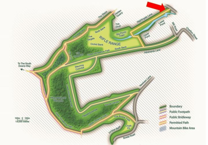 Mouse Lane entrance map