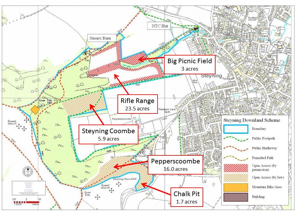 Find Out About Us Steyning Downland Map With Grazing Areas