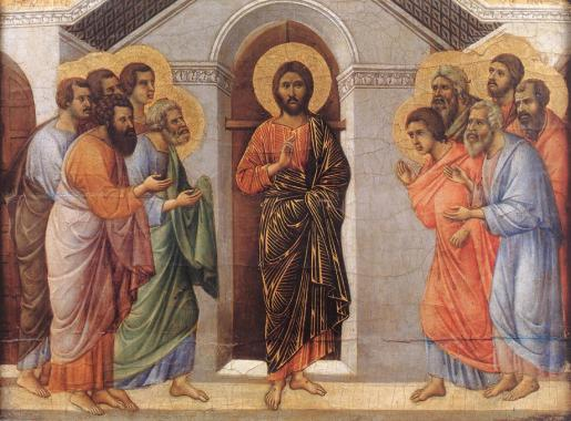Christ Appearence Behind Locked Doors Duccio di Buoninsegna