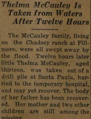 From the Fillmore American, Thursday, March 15, 1928, page 8