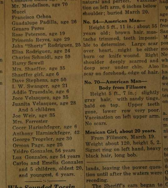 From the Fillmore American, Thursday, March 22, 1928, page 1 and 5